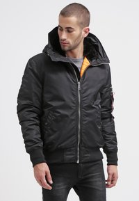 Alpha Industries - HOODED STANDART FIT - Light jacket - black - 0
