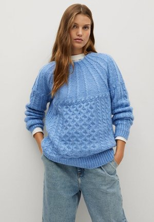 HANDIA - Pullover - himmelblau