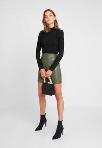 New Look - SEAMED - A-line skirt - dark khaki - 1