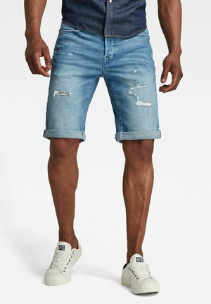 Denim shorts - faded seascape restored