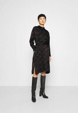FERLIN DRESS - Košilové šaty - black