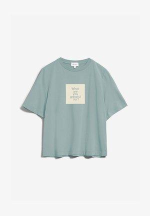 LAYAA DIARY - Print T-shirt - eucalyptus green