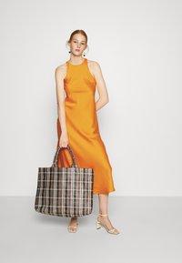 Who What Wear - CUT OUT BACK SLIP DRESS - Cocktail dress / Party dress - papaya - 1