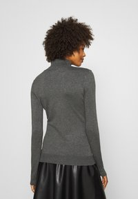Anna Field - BASIC- TURTLE NECK - Strikkegenser - dark grey - 2