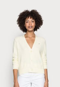 Tommy Hilfiger - TEXTURE OPEN CARDIGAN - Cardigan - yellow - 0