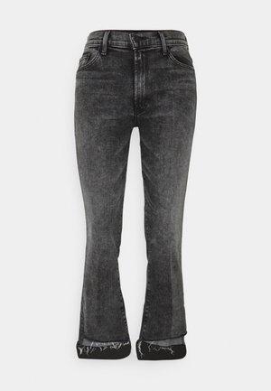 THE INSIDER CROP STEP FRAY - Jeansy Skinny Fit - grey denim