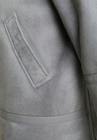Emporio Armani - Kožená bunda - grey - 2