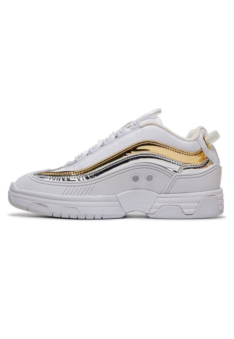 DC Shoes - LEGACY OG - Trainers - white/gold