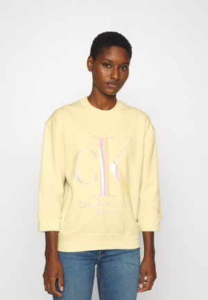 IRIDESCENT MONOGRAM - Sweater - light yellow