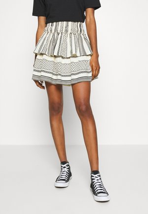VMDICTHE LAYER SMOCK - Mini skirt - birch/black