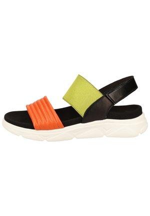 Sandály na platformě - light yellow