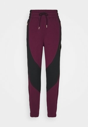 PANT - Pantalones deportivos - bordeaux/black/metallic gold
