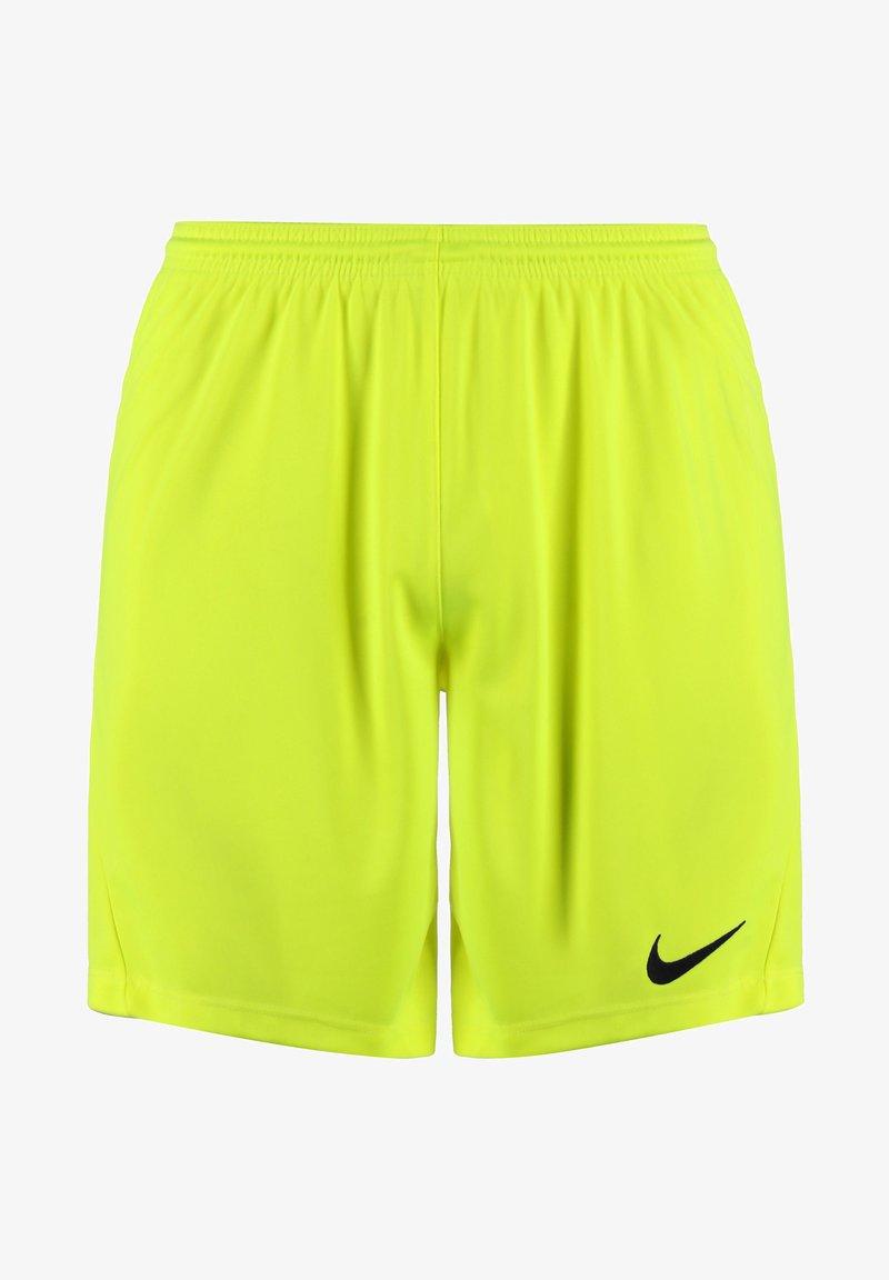 Nike Performance - DRY PARK III - Sports shorts - volt / black