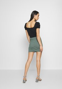 Even&Odd - 2 PACK - Mini skirt - khaki/black - 4
