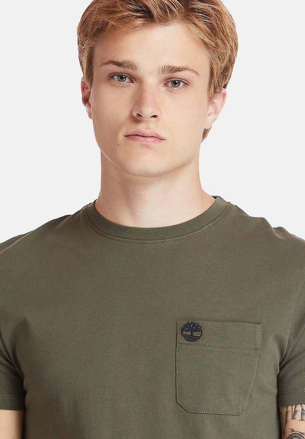 Timberland T-shirt basic - grape leaf/oliwkowy Odzież Męska XIRZ