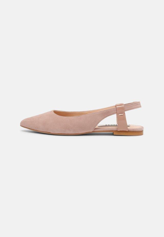 Slingback ballet pumps - light pink