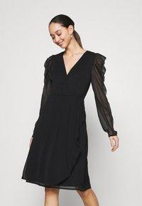 Vila - VIELLIAN DRESS - Day dress - black - 0