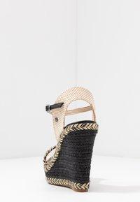 Pepe Jeans - OHARA LOGO - High heeled sandals - black - 5