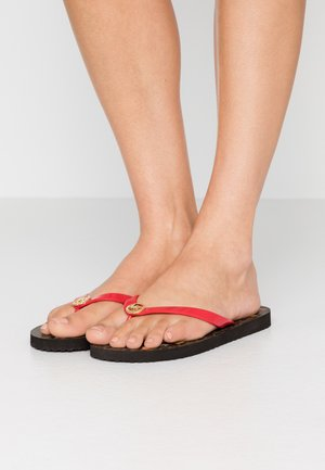 T-bar sandals - brown/bright red