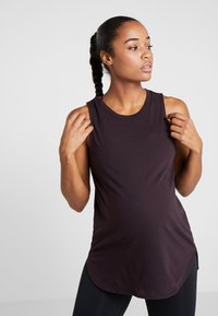 Cotton On Body - MATERNITY ACTIVE CURVE HEM TANK - Top - eggplant - 0