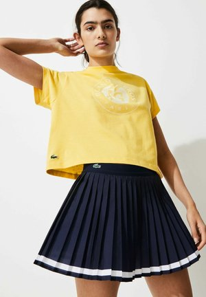 Print T-shirt - gelb / weiß