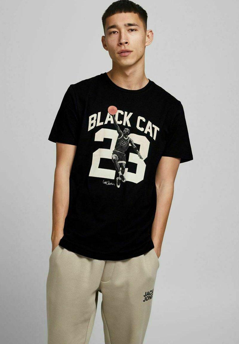 Jack & Jones - Print T-shirt - black