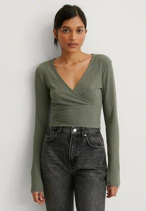 WICKELDETAIL - Long sleeved top - khaki