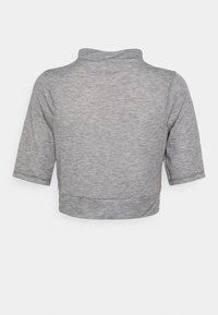 The North Face - VYRTUE CROP - Print T-shirt - black heather - 6