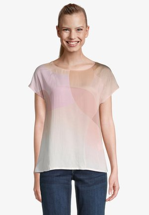 Print T-shirt - cream rosé
