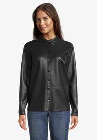 Betty & Co - Button-down blouse - zwart - 0
