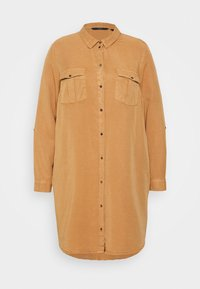 VMSILLA SHORT DRESS  - Shirt dress - tobacco brown