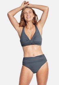 Seafolly - HIGH WAIST WRAP FRONT PANT - Bikini bottoms - granite - 0