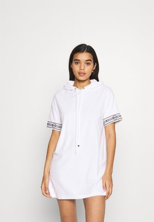 SOLID HOOD COVER UP DRESS - Complementos de playa - white