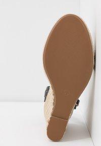 Even&Odd Wide Fit - Korolliset sandaalit - black - 4