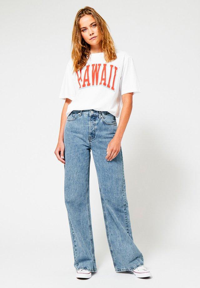 ELLISON - Print T-shirt - white