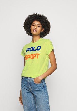 Print T-shirt - bright pear