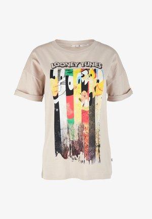 MIT LOONEY TUNES-PRINT - Print T-shirt - sand
