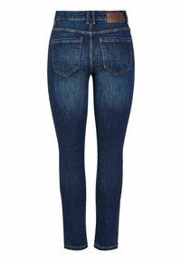 Pieces - Slim fit jeans - dark blue denim - 1