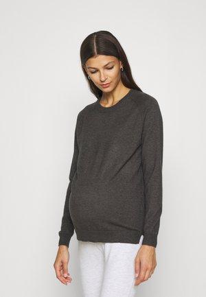 OLMYOUNGER - Sweter - dark grey melange