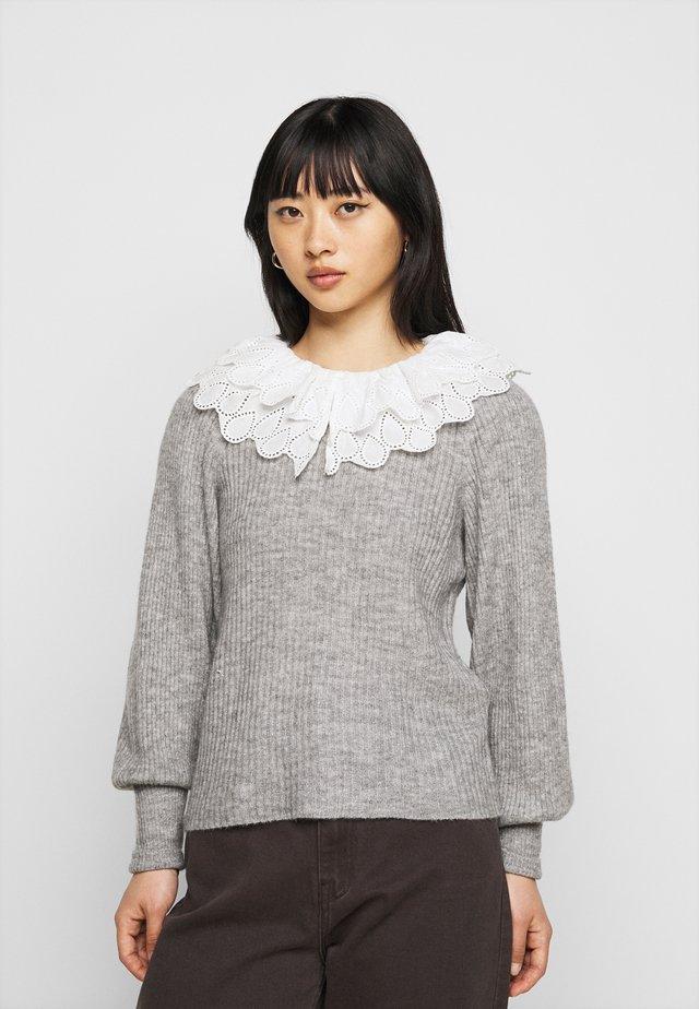 OBJGISELLE  - Sweter - medium grey melange