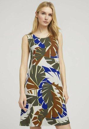 MIT RÜCKENDETAIL - Robe d'été - multicolor botanical design