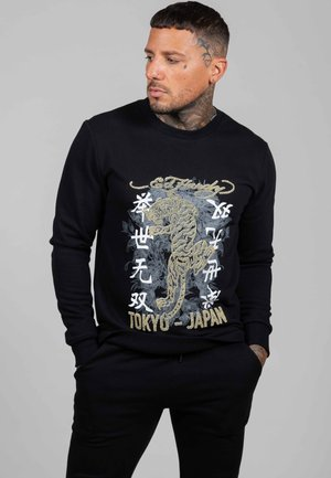 GOLD ROAR CREW SWEAT - Sweatshirt - black