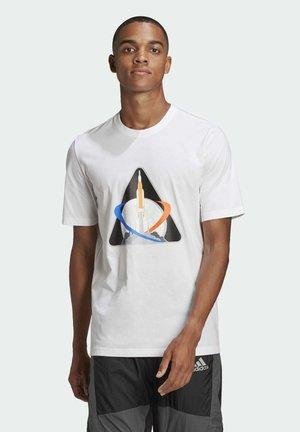 AEROREADY TRAINING SLIM SHORT SLEEVE TEE - T-shirt med print - white