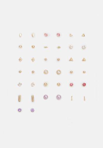 PCQARIHA EARSTUDS KEY 20 PACK - Earrings - gold-coloured