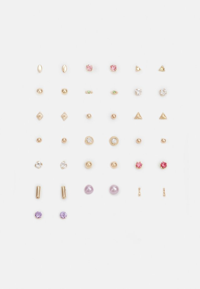 PCQARIHA EARSTUDS KEY 20 PACK - Boucles d'oreilles - gold-coloured
