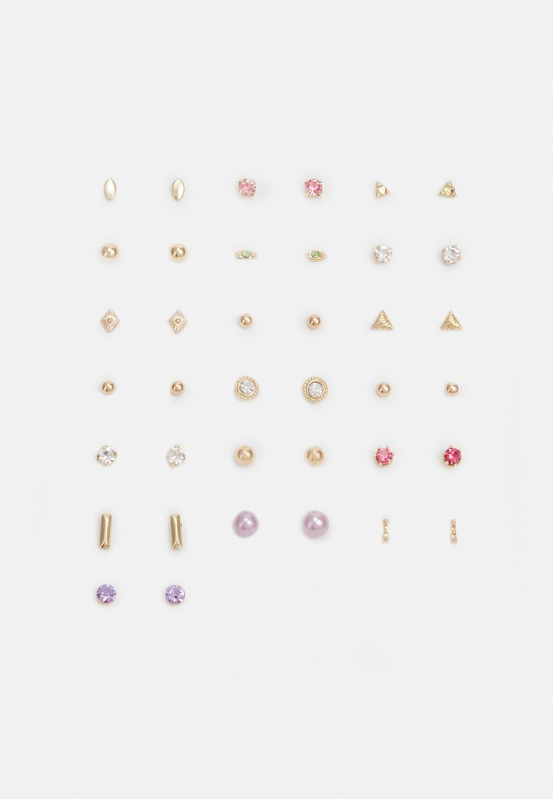 Pieces - PCQARIHA EARSTUDS KEY 20 PACK - Earrings - gold-coloured