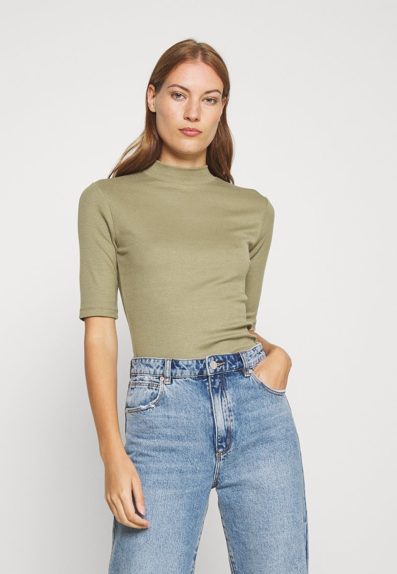 Modström - KROWN - Basic T-shirt - light khaki