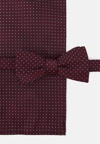 Selected Homme - SLHLANDON BOWTIE GIFTBOX SET - Kapesník do obleku - winetasting - 6