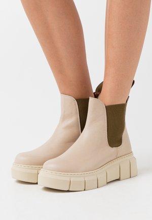 GRAF - Platform ankle boots - madison ibory/kaki