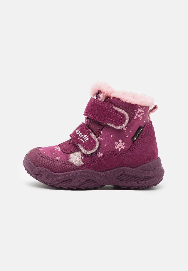 GLACIER - Zimní obuv - rot/rosa